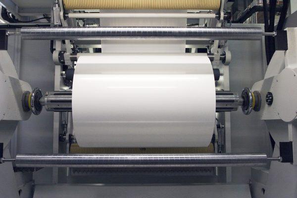 Film reel in printing press